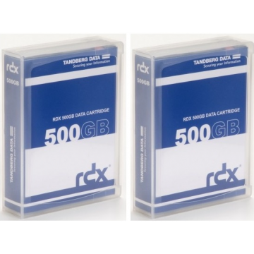 PROMOTION SECURITE ETE: Pack de 2 Cartouches de sauvegarde Tandberg 500 go
